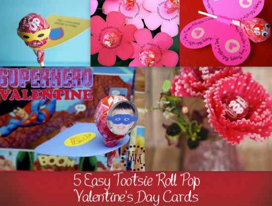 Tootsie Roll Valentine's Day Cards