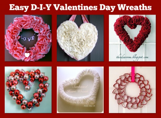 Easy D I Y Valentine S Day Wreaths The Frugal Female