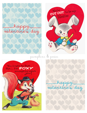 picture relating to Free Printable Vintage Valentine Cards identified as Free of charge Printable Valentines Working day Playing cards - The Frugal Girl