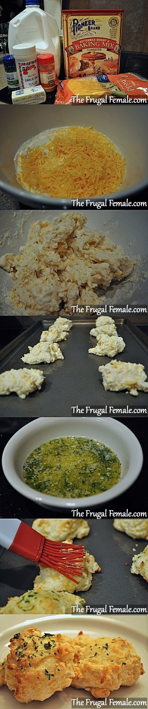 Easy Cheesy Biscuits - The Frugal Female