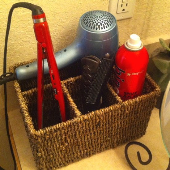 Easy Bathroom Organization Idea