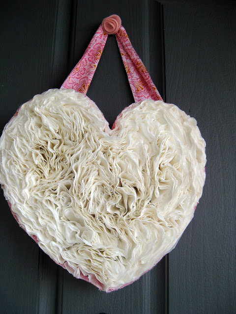 Coffee Filter Valentine's Day Wreath