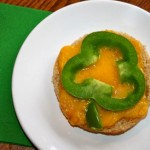 Easy, Cheesy, Bell Pepper Shamrocks