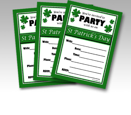 Free Printable St. Patrick's Day Party Invitations