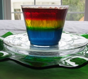 Rainbow Jello Cups