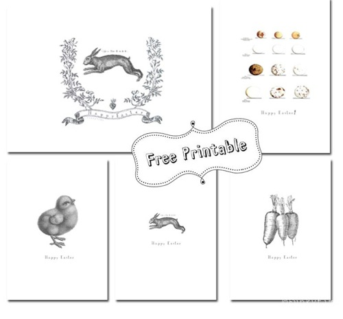 Cute Free Printable Easter Cards