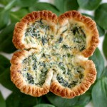 Lucky Shamrock Spinach Quiche