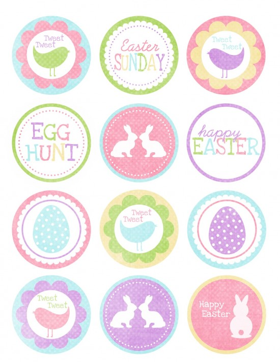 Cupcake Toppers : More Free Easter Printables - The Frugal Female