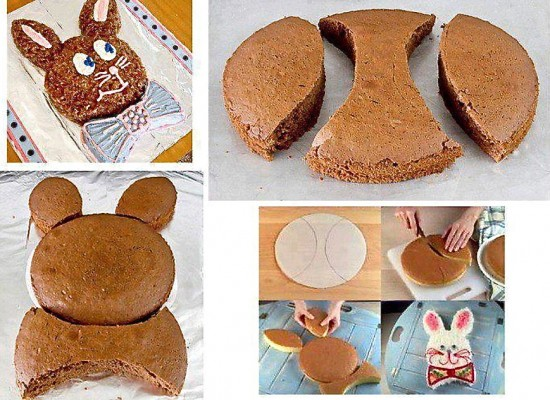 Easter Bunny Cake Photo Tutorial