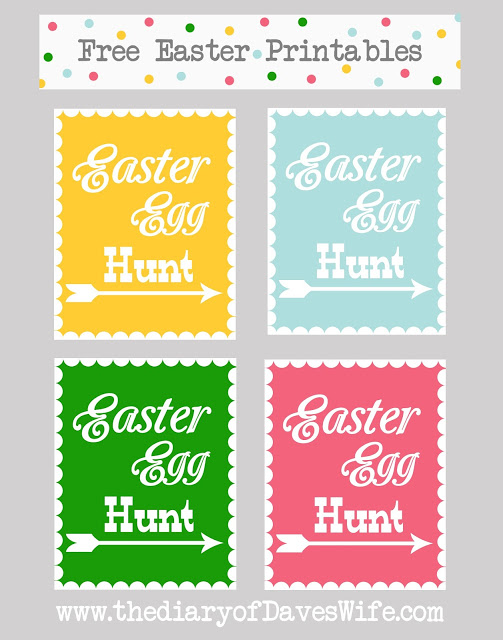 Free Printable Easter Egg Hunt Sign