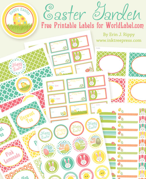 easter name tags template - more free easter printables the frugal female