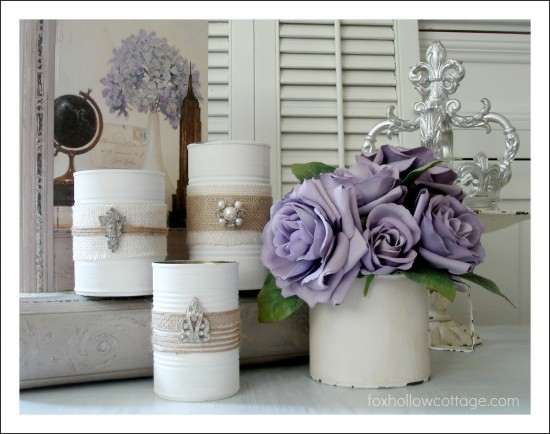 repurpose tin cans into beautiful decor the frugal female