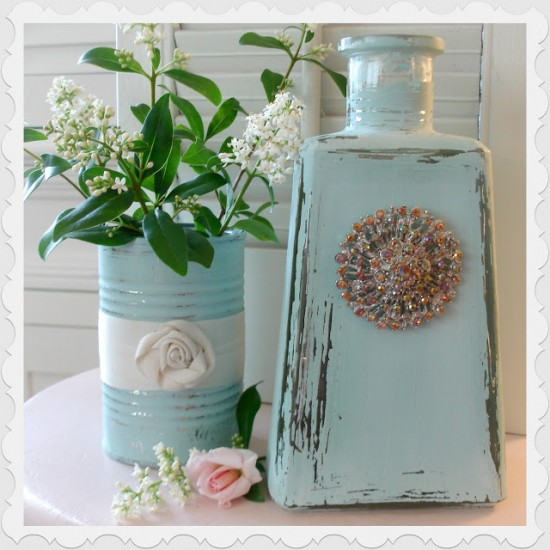 Repurposed Tequila Bottle As Decoration