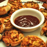 Barbeque Chicken Pizza Pinwheels