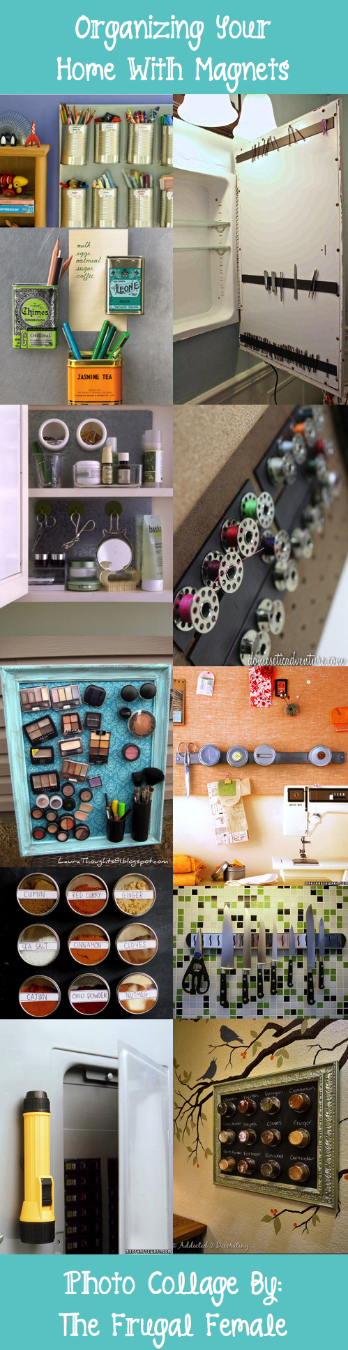 Organizing your home with magnets the frugal female - Simple ways of keeping your home organized using magnetic picture frames ...