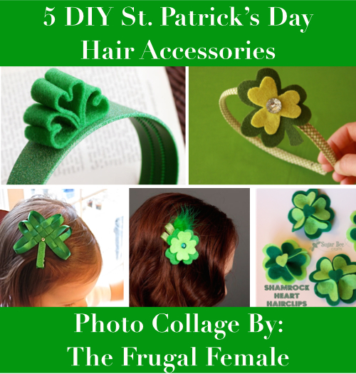 Classroom Dress Up Ideas ~ Cute diy st patrick s day hair accessories the frugal