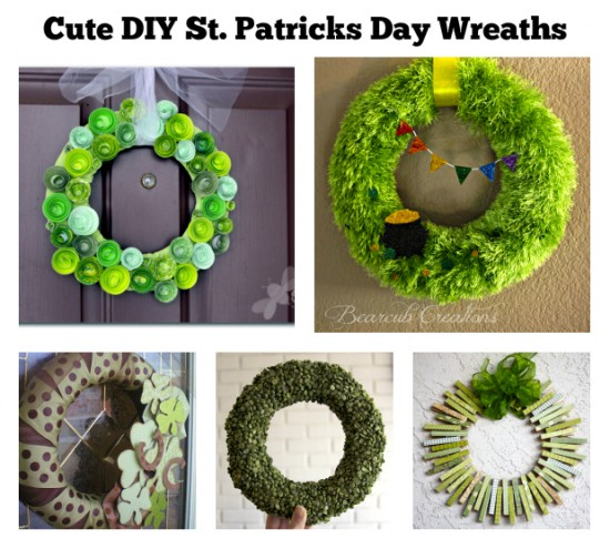 st. patty's day wreaths