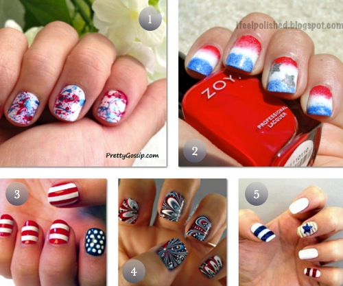 5 4th of July DIY Nail Tutorials