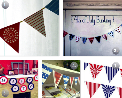 5 Free Printable 4th of July Buntings