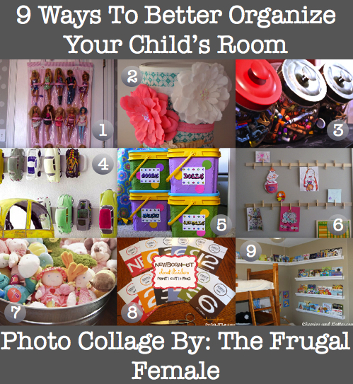 9 ways to better organize your child 39 s room the frugal female - Simple ways of keeping your home organized using magnetic picture frames ...