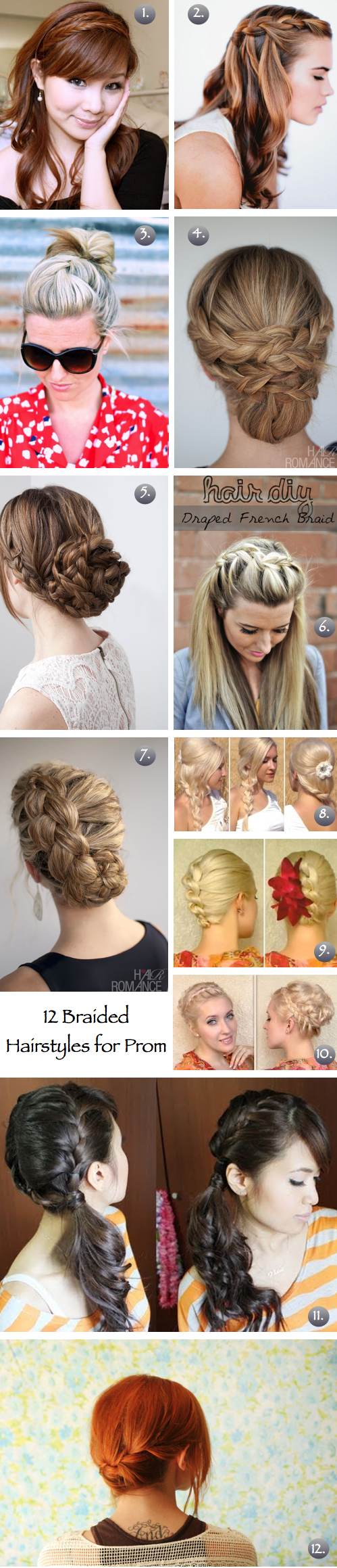 diy prom hairstyles : 12 DIY Braided Hairstyles - The Frugal Female