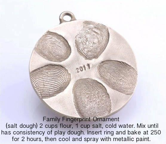 3 Great Swift Y And Thrifty Diy Decorating Ideas: DIY Family Fingerprint Ornament