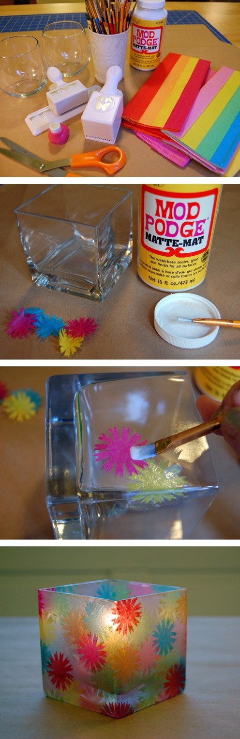 Easy DIY Stained Glass Votive