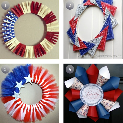 DIY 4th of July Wreaths