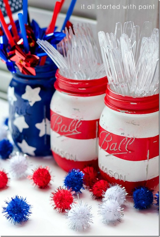 DIY Mason Jar Flag