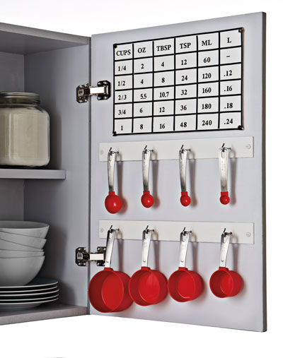 Organize Using The Inside Of Your Cabinet Door