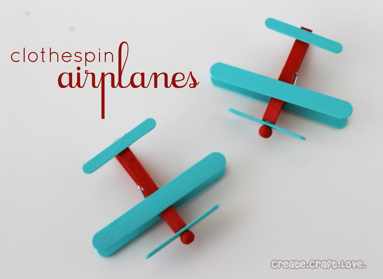 diy clothespin airplanes the frugal female