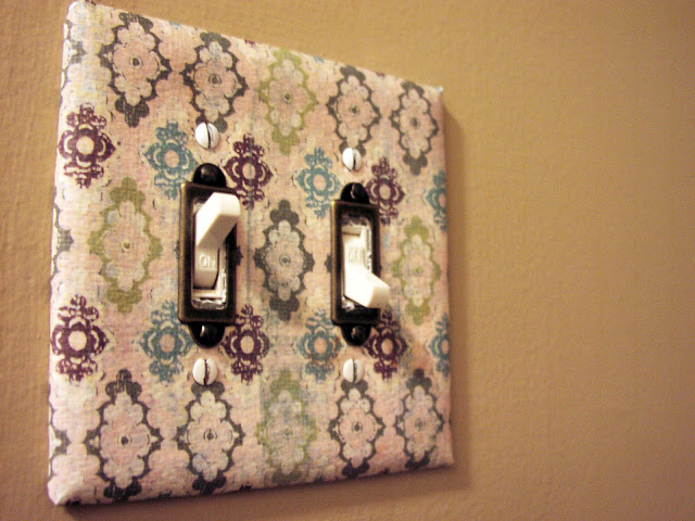 Papered Switch Plate Cover