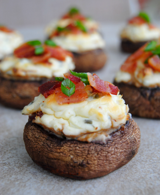 Bacon and Spicy Cream Cheese Stuffed Mushrooms 07