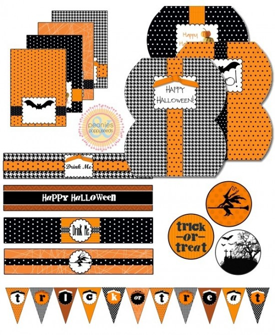 Free Orange and Black Halloween Printable