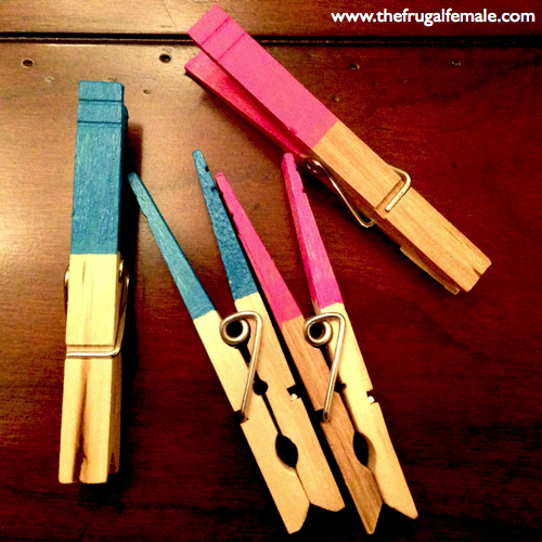 clothespins for gender reveal