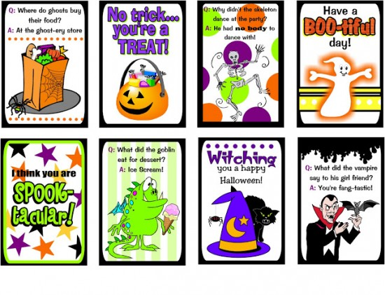 halloween lunch box notes
