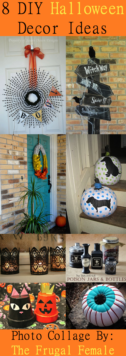8 diy halloween decor ideas the frugal female for Halloween home decorations