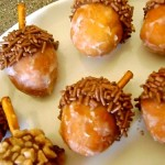 Sweet Acorns Made From Donut Holes