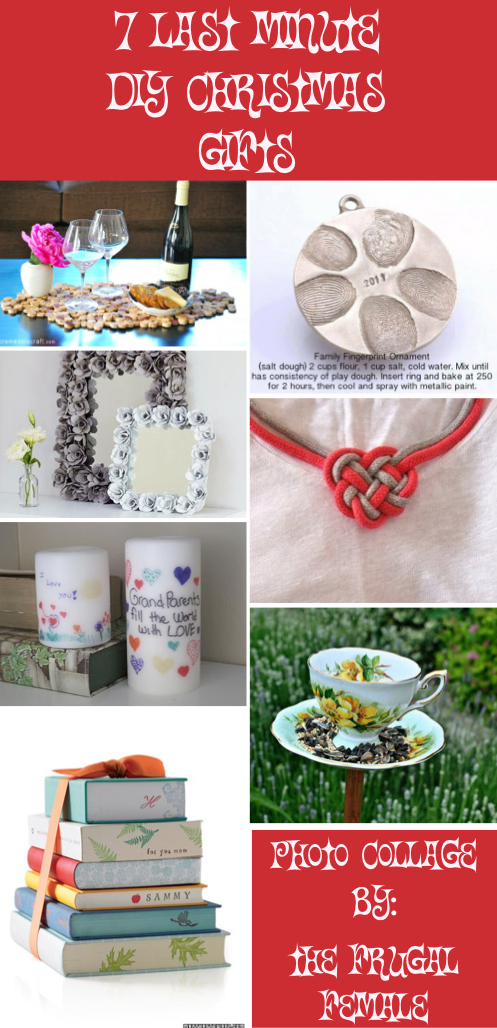 7 last minute diy christmas gifts the frugal female for Creative affordable christmas gifts