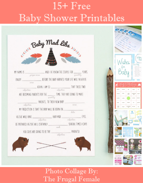 15+Free Baby Shower Printables