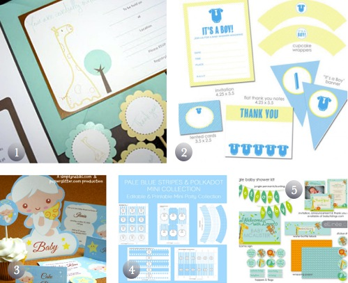 Baby Boy Shower Party Pack