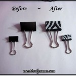 Easy Binder Clip Makeover
