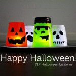 DIY Solo Cup Halloween Luminaries